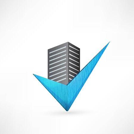 construction firm: Buildings design vector