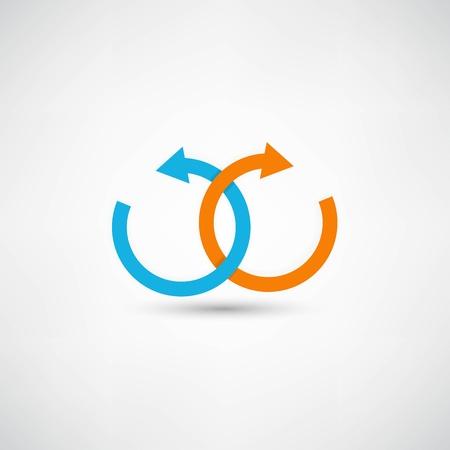 alianza: Concepto de signo Vectores