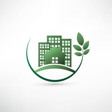 environmentally: Green environmentally friendly real estate.