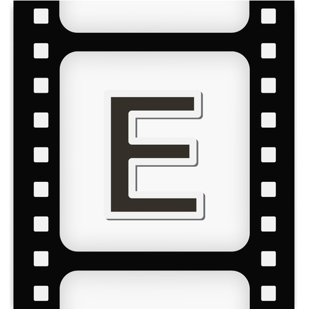 Filmstrip  the letter Vector