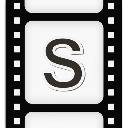 35 mm: Filmstrip  the letter