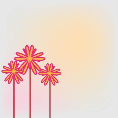 three flower Vector