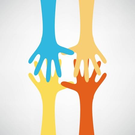 manos unidas: manos conectando