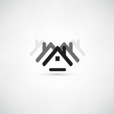 realestate: House & office icon Illustration