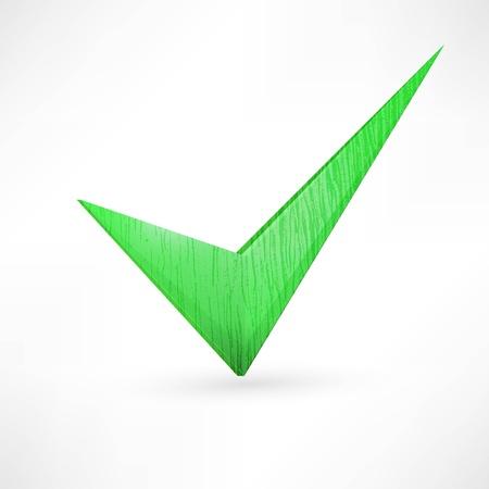 green checkmark. Stock Vector - 21992206