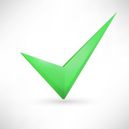 green checkmark. Vector