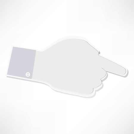 Index finger Stock Vector - 21992215