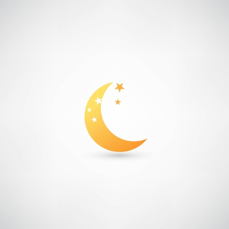 half full: moon icon vector