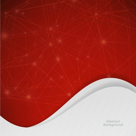 3D red Abstract Mesh Background with Circles Illustration