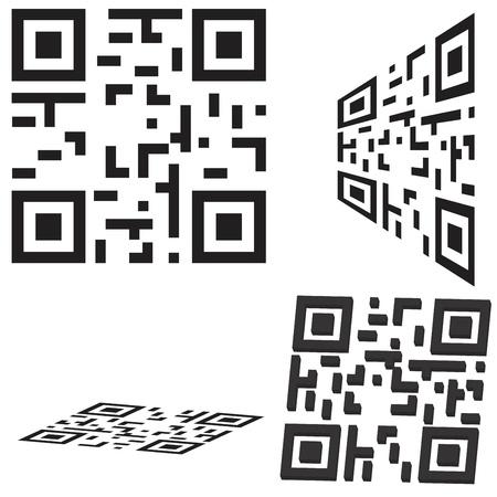 correttore: Set di codici QR e codice Flash Vettoriali