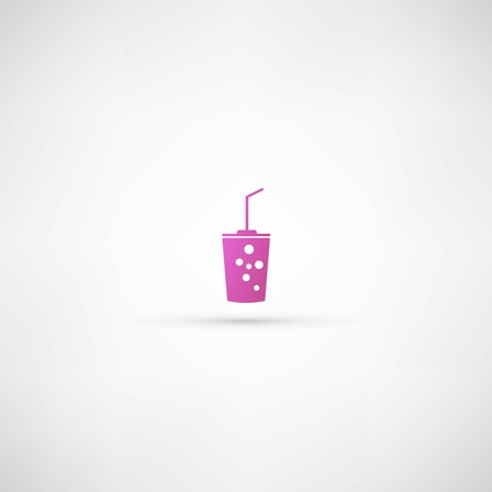 Plastic cups icon Vector