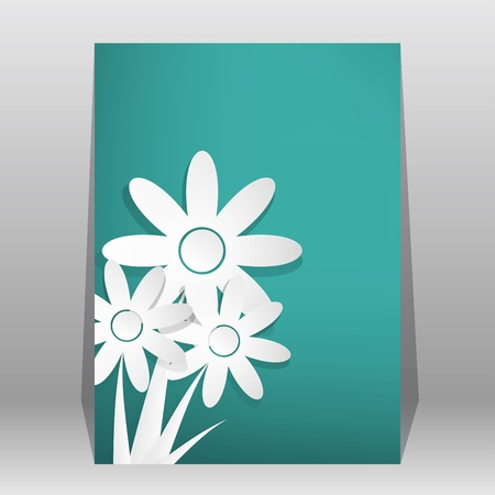 Vector Flower shop brochure, flyer, magazine cover & poster template Vector