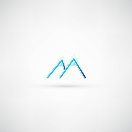 mountainside: mountain icon Illustration