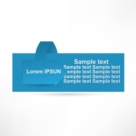 Horizontal Vector Sample stickers for various banner design options Vector