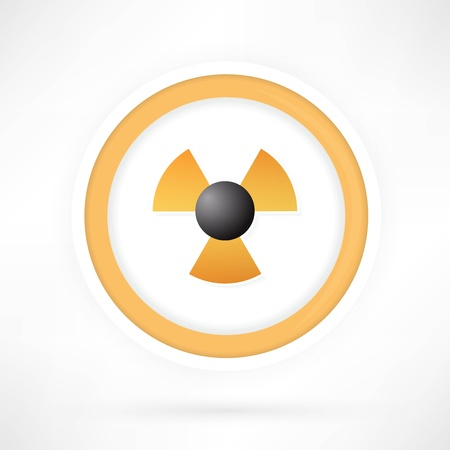 Vector radiation symbol Stock Vector - 22066158
