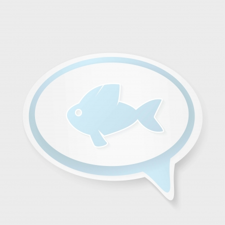 ichthus: Christian religion symbol fish. Concept speech bubbles