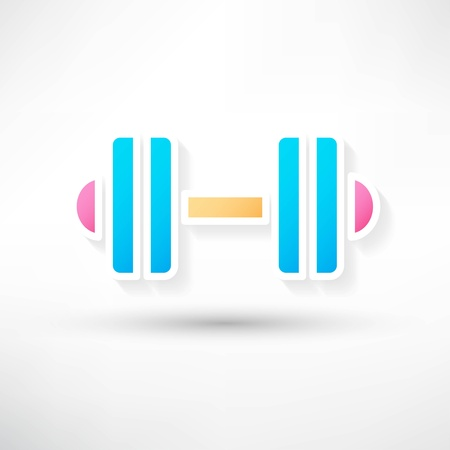 dumbbell icon Stock Vector - 22066307