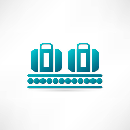 luggage plane icon Stock Vector - 23159336
