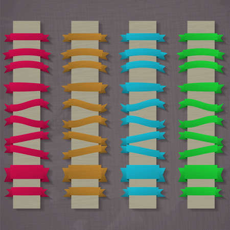 Vector set of retro ribbons Vector