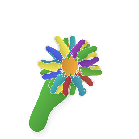 foot flower Vector