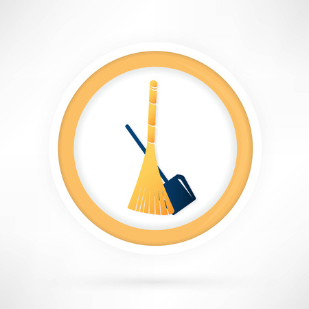 primitive tools: cleaning icon Illustration