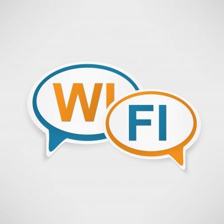 WiFi Zone speech bubbles Stock Vector - 23160458