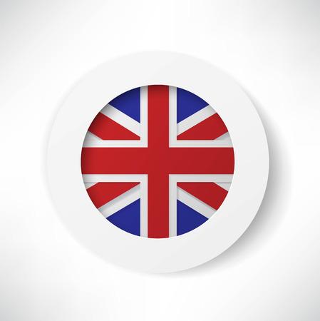 bandera de gran breta�a: Bot�n del indicador de breta�a