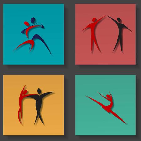 Icone di danza set Archivio Fotografico - 24382679
