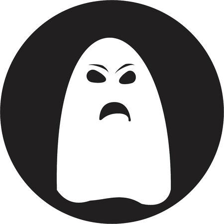 unfriendly: ghost icon Illustration