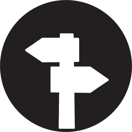 blank road sign icon Illustration