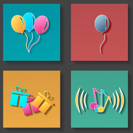 holiday icons: holiday icons set