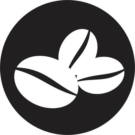 coffee beans: Los granos de caf� s�mbolo