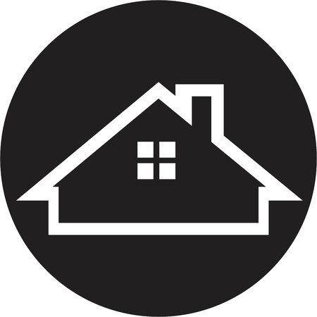 building lot: Real estate icon Illustration