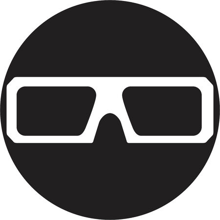 stereoscope: glasses icons Illustration