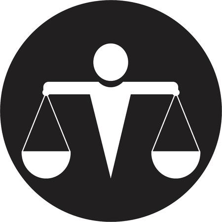 judicial system: icono de la justicia