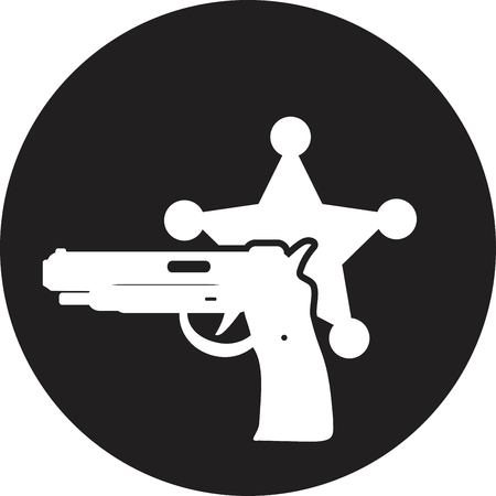 Vector illustration of isolated modern police icon. Vector