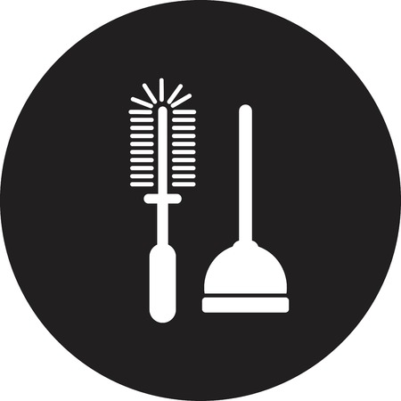 airtight: Plunger Vector Illustration Illustration