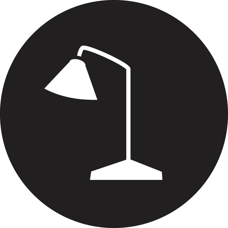 flexible business: Vector Table Lamp Icon