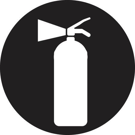extinguish: Fire extinguisher isolated on a white background