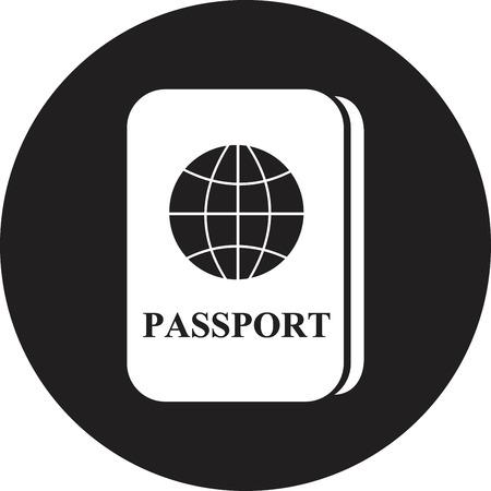 Passport icon Stock Vector - 25018370
