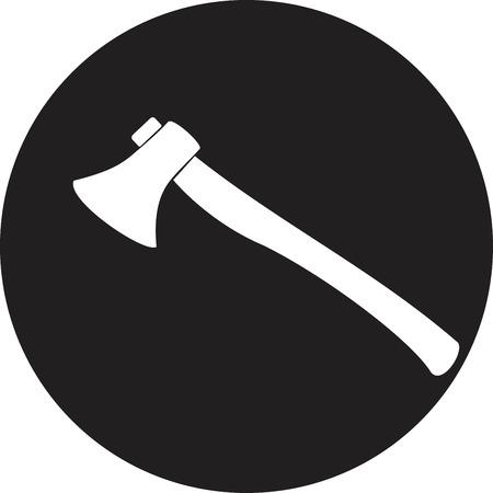 smoke alarm: Fire ax on a white background