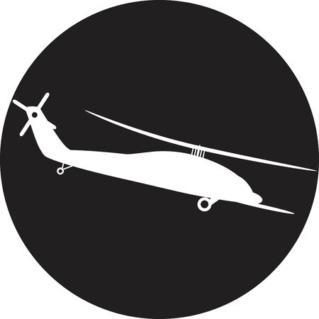 Helicopter - vector illustration