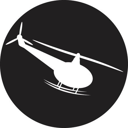 sikorsky: Helicopter - vector illustration