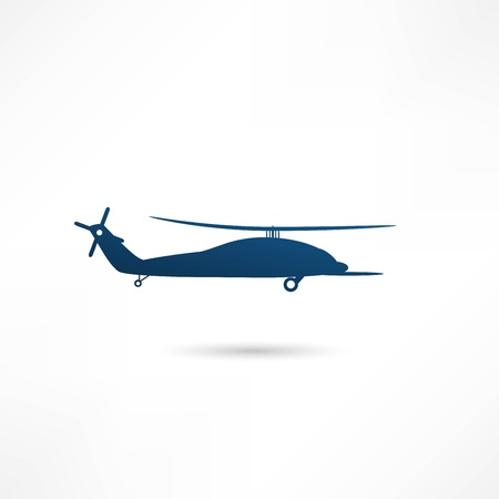 warfare: Helicopter - vector illustration