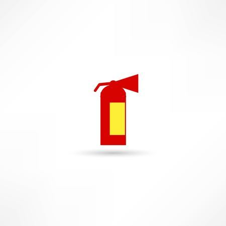 Fire extinguisher isolated on a white background Vector