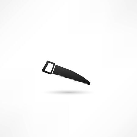 vector icon of hand saw Vector