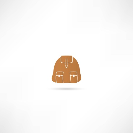 backpack  icon Stock Vector - 25018618