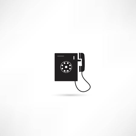 Telephone vector icon isolated Vector