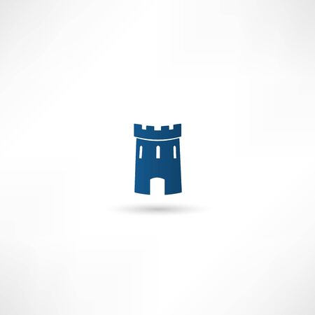 Medieval castle tower vector icon Vector