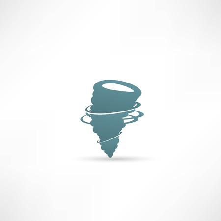 catastrophic: wind icon vector Illustration